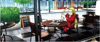 HEY!鏡(へいかがみ)の通常時ステージ(喫茶店)