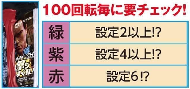 新台 Pターミネーター2~連撃FULL AUTO VER.~ 設定推測ポイント