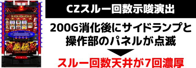 花伝 内部モード・スルー天井示唆演出3