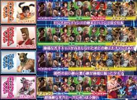 CR鉄拳2 -闘神ver-のタッグパートナーの組み合せ一覧